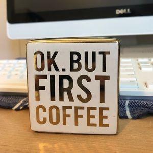 NEW Ok But First Coffee Decor Coffee Bar Mini Sign